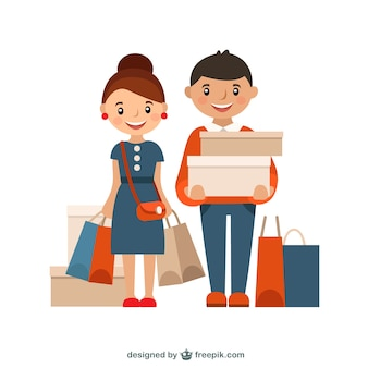 Shopping illustration Premium Vector