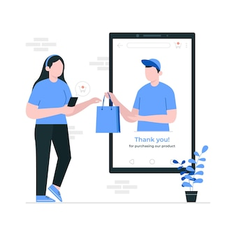 온라인 상점 개념에서 쇼핑