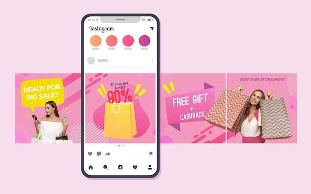Shopping instagram carousel templates