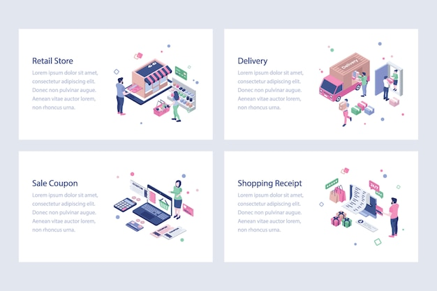 Shopping isometric vectors