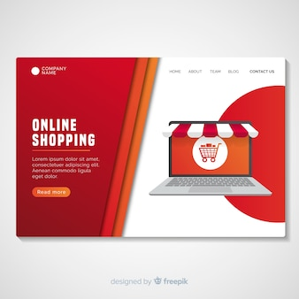 Shopping landing page template