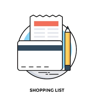 Shopping list flat icon