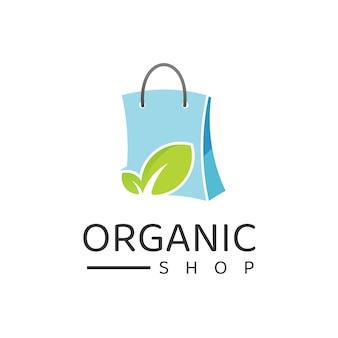 쇼핑 로고 디자인 템플릿, 유기농, 자연, 허브 스토어 로고