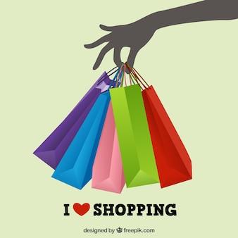 쇼핑 사랑 무료 벡터