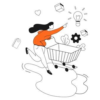 쇼핑 마케팅 비즈니스 일러스트레이션 키트