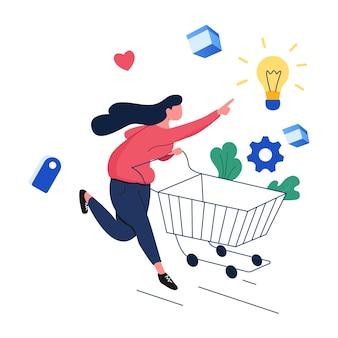 쇼핑 마케팅 일러스트레이션 키트