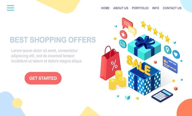 ショッピングはランディングページのコンセプトを提供します