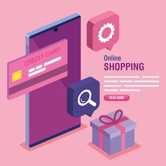 Shopping online composition