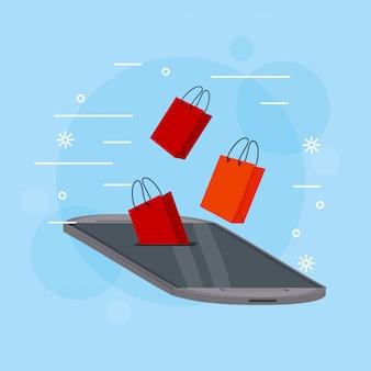 쇼핑 온라인 개념