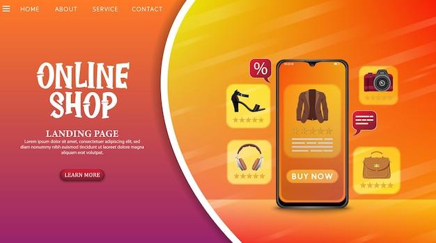 Shopping online design concept on mobile application