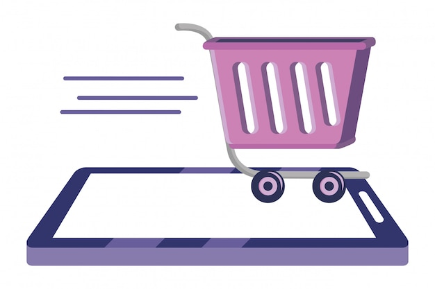 Shopping online icon illustration