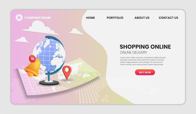 Shopping online landing page