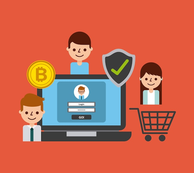 Shopping online laptop secure bitcoin people