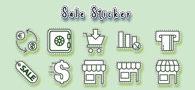 온라인 라인 아트 스티커 쇼핑
