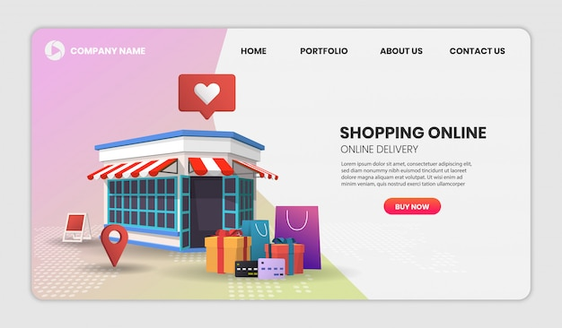 Shopping online. online delivery service