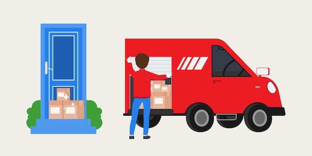 Shopping online and shipping delivery service.