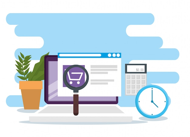 Shopping online with sale market ecommerce