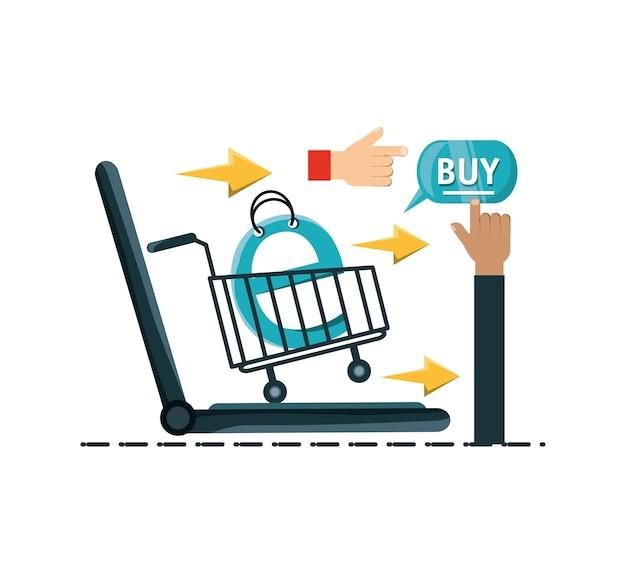 テクノロジー機器とのオンラインショッピング