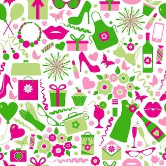 Shopping pattern in flat design
