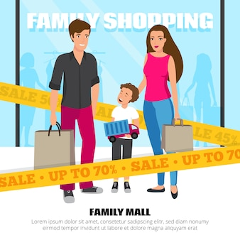 Shopping people illustration