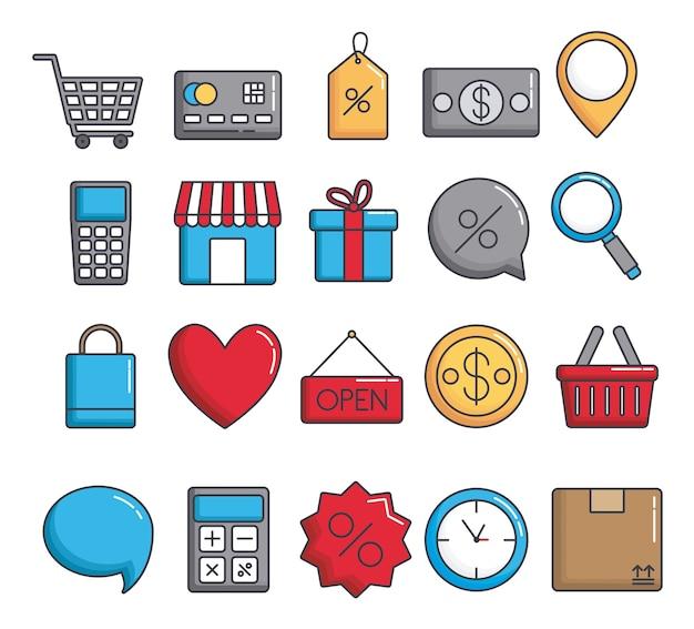 ショッピング関連のアイコン