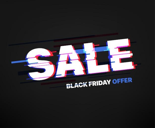 Shopping sale banner. black friday offer