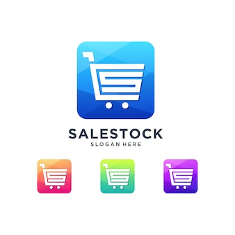 Shopping sale market logo discount print