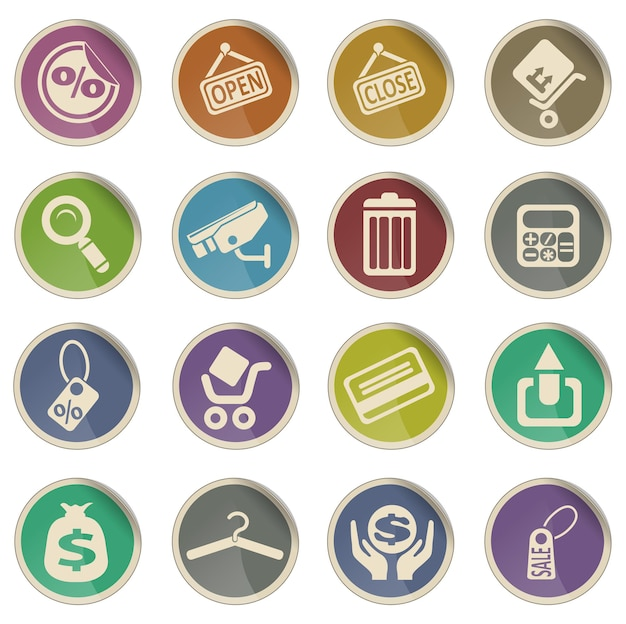 Shopping simply symbol for web icons