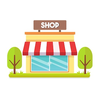 Shopping store building vector