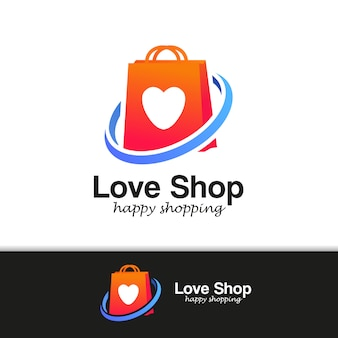 Shopping store logo design vector