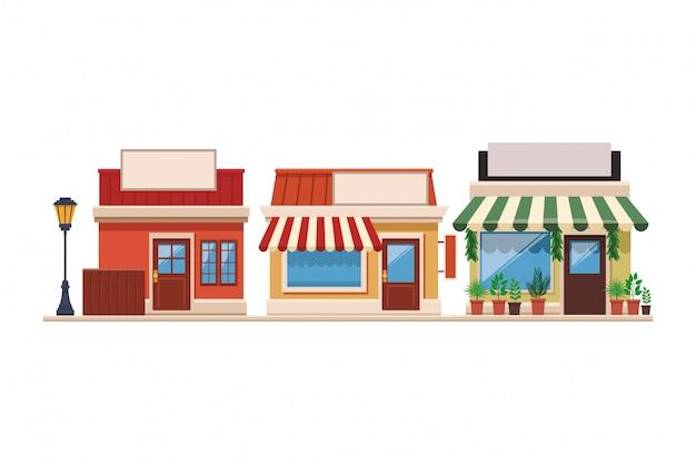 Shopping stores cartoon