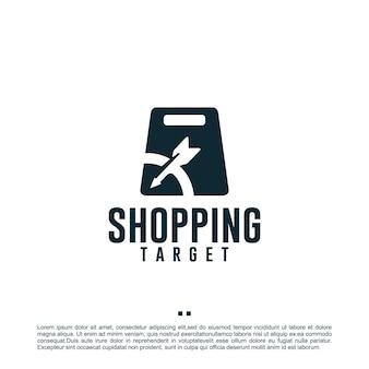 Торговая цель, магазин, шаблон дизайна логотипа