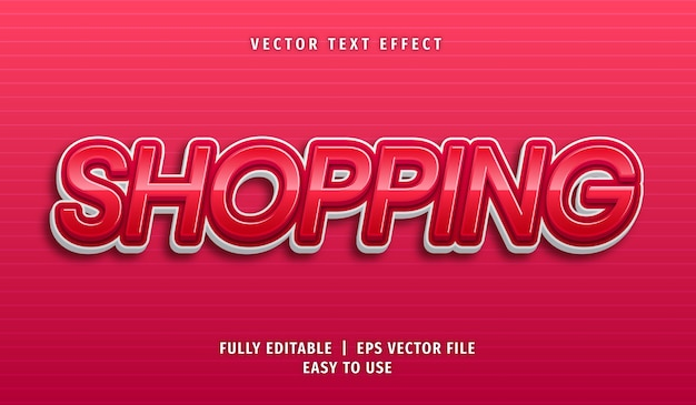 Shopping text effect, editable text style