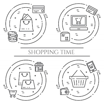 Shopping theme banner.