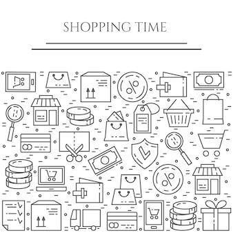 Shopping theme horizontal banner