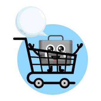 Shopping trolley bag cute character