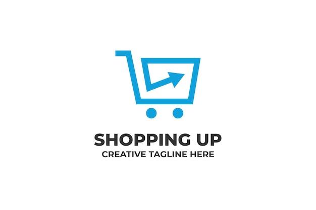 Shopping trolley cart business logo
