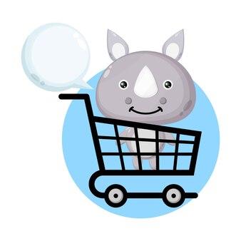 ショッピングカートサイかわいいキャラクター