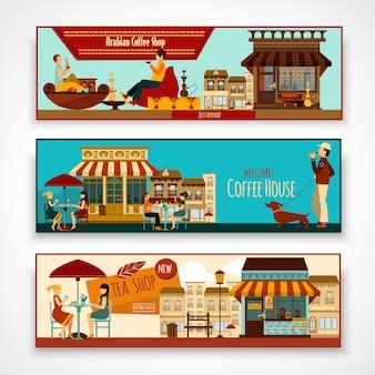 Shops banner set
