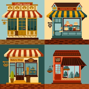 Shops Facades Set