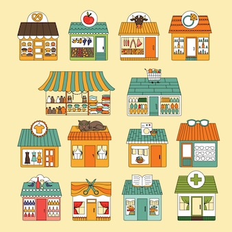 Shops icon set