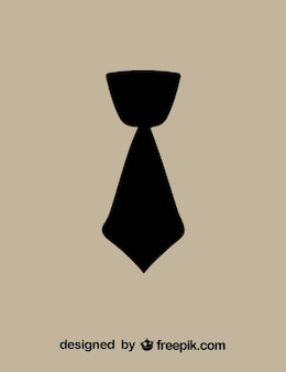 Short necktie black icon