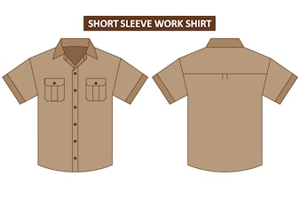 Short sleeve work shirt with two chest pocket