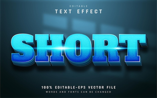 Short text, blue gradient text effect