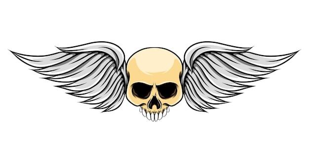 Короткие крылья с мертвым черепом