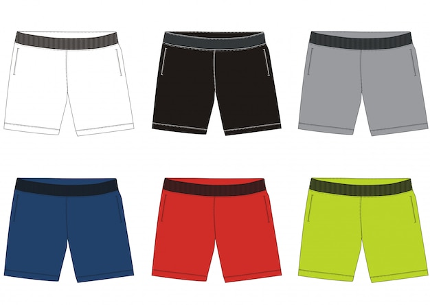 Shorts template design
