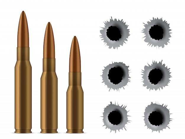 Shot gun bullets, holes, gunshot, caliber weapon.