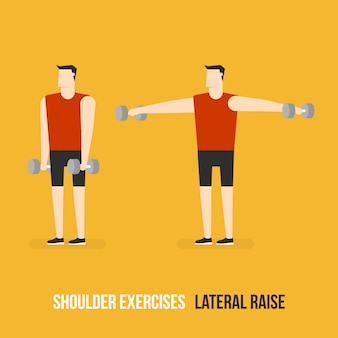 Shoulder lateral raise demostration