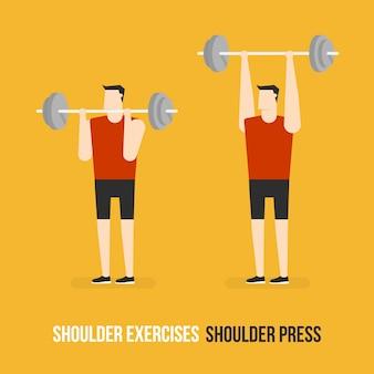 Shoulder press demostration