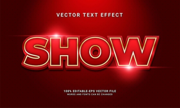 Show 3d text style effect themed modern red color